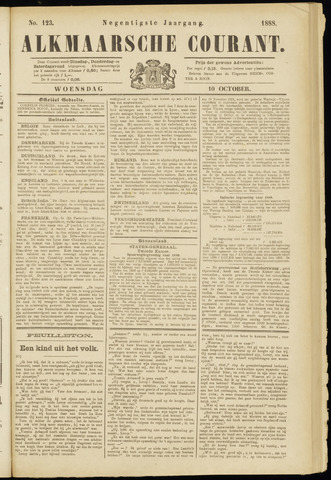 Alkmaarsche Courant 1888-10-10