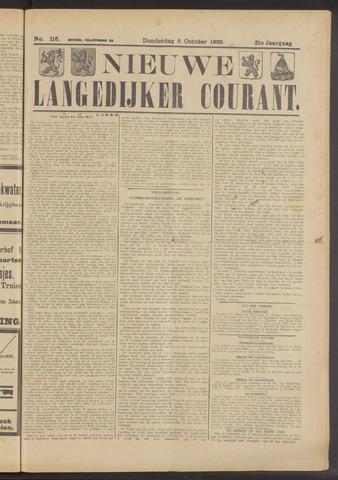 Nieuwe Langedijker Courant 1922-10-05