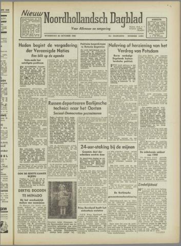 Nieuw Noordhollandsch Dagblad : voor Alkmaar en omgeving 1946-10-23