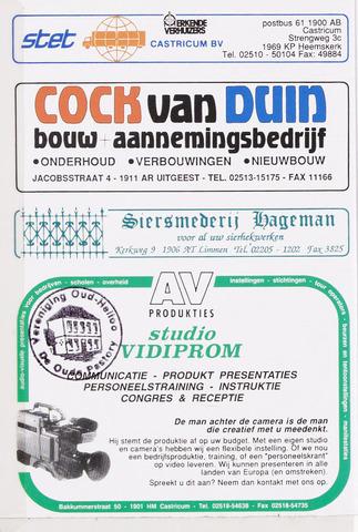 Adresboek van Castricum/Bakkum 1989-01-02