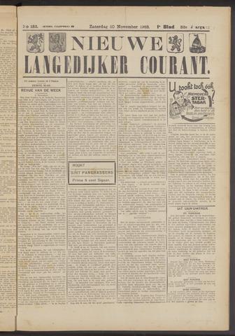Nieuwe Langedijker Courant 1923-11-10