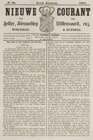 Nieuwe Courant van Den Helder 1861-10-02