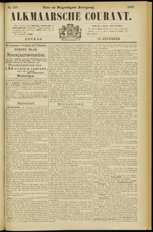 Alkmaarsche Courant 1892-12-25