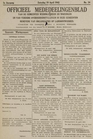 Mededeelingenblad Wieringermeer en Wieringen 1943-04-10