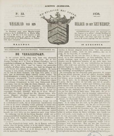 Weekblad van Den Helder en het Nieuwediep 1850-08-12