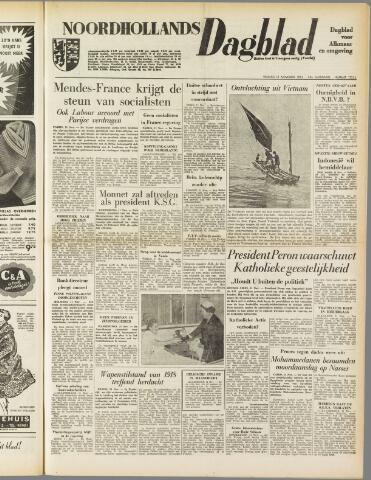 Noordhollands Dagblad : dagblad voor Alkmaar en omgeving 1954-11-12