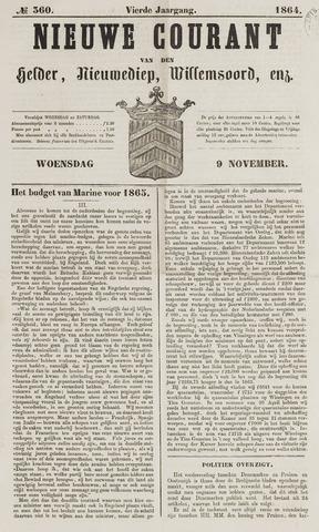 Nieuwe Courant van Den Helder 1864-11-09
