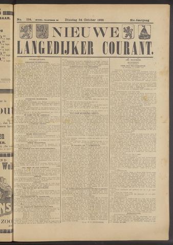 Nieuwe Langedijker Courant 1922-10-24