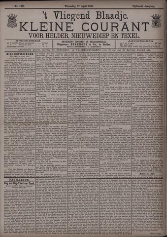Vliegend blaadje : nieuws- en advertentiebode voor Den Helder 1887-04-27