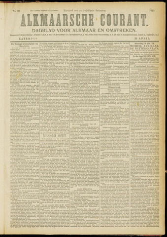 Alkmaarsche Courant 1919-04-26