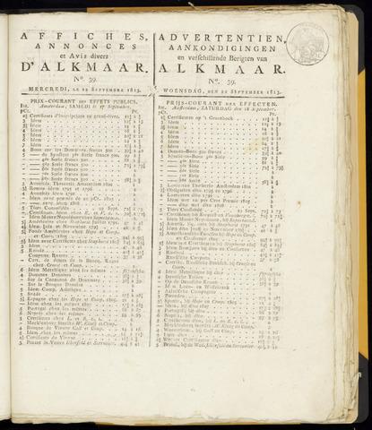 Alkmaarsche Courant 1813-09-22