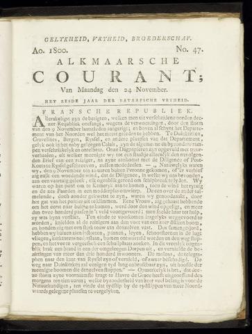 Alkmaarsche Courant 1800-11-24