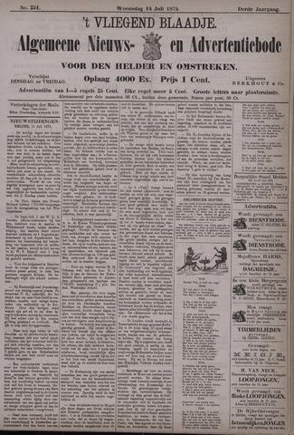 Vliegend blaadje : nieuws- en advertentiebode voor Den Helder 1875-07-14
