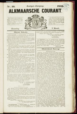 Alkmaarsche Courant 1858-03-08