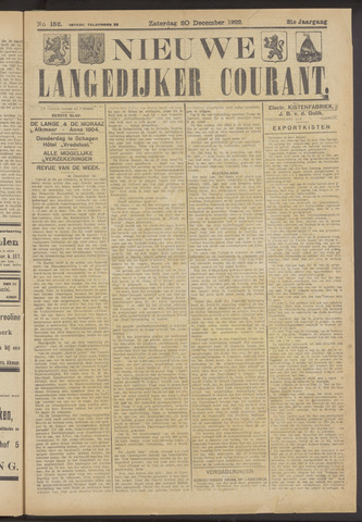 Nieuwe Langedijker Courant 1922-12-30