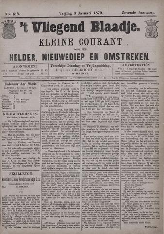 Vliegend blaadje : nieuws- en advertentiebode voor Den Helder 1879-01-03