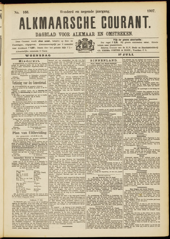 Alkmaarsche Courant 1907-07-17