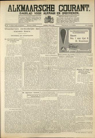 Alkmaarsche Courant 1939-04-04