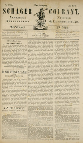 Schager Courant 1883-05-27