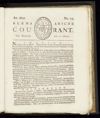 Alkmaarsche Courant 1807-03-30