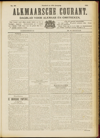 Alkmaarsche Courant 1909-08-26