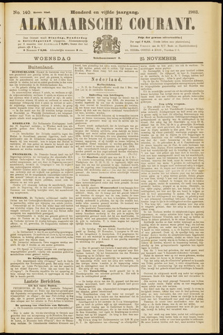 Alkmaarsche Courant 1903-11-25