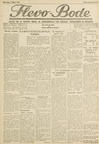 Flevo-bode: nieuwsblad voor Wieringen-Wieringermeer 1948-03-31