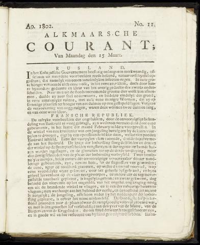 Alkmaarsche Courant 1802-03-15