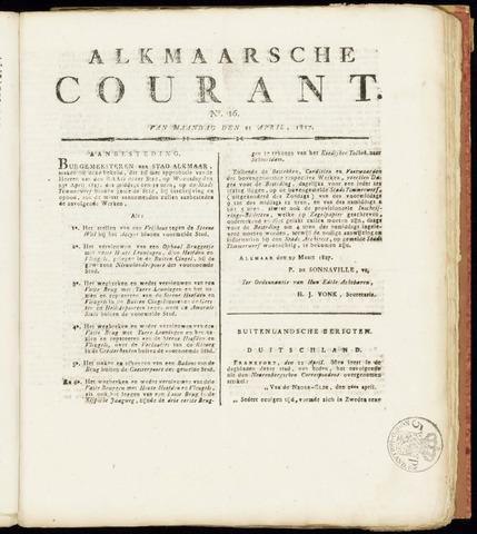 Alkmaarsche Courant 1817-04-21