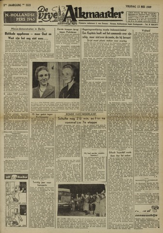 De Vrije Alkmaarder 1949-05-13