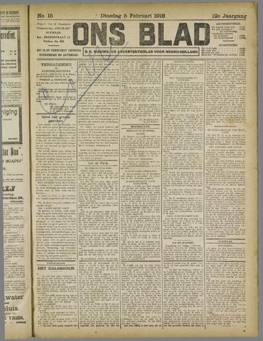 Ons Blad : katholiek nieuwsblad voor N-H 1918-02-05