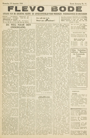 Flevo-bode: nieuwsblad voor Wieringen-Wieringermeer 1946-08-28