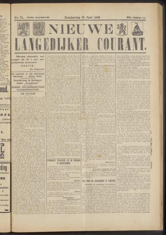 Nieuwe Langedijker Courant 1923-06-21