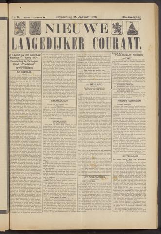 Nieuwe Langedijker Courant 1923-01-25