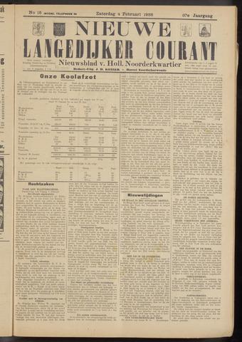 Nieuwe Langedijker Courant 1928-02-04