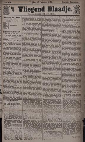 Vliegend blaadje : nieuws- en advertentiebode voor Den Helder 1879-10-17
