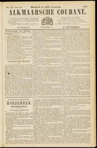Alkmaarsche Courant 1903-09-27