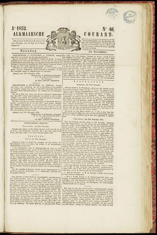 Alkmaarsche Courant 1852-11-15