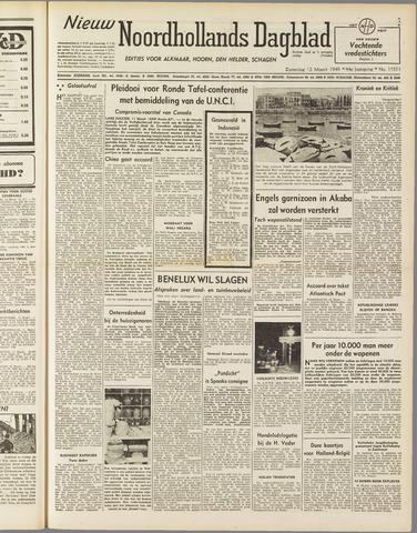 Nieuw Noordhollandsch Dagblad : voor Alkmaar en omgeving 1949-03-12