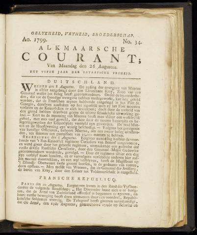 Alkmaarsche Courant 1799-08-26