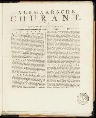 Alkmaarsche Courant 1814-08-15