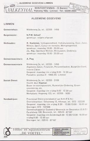 Adresboek van Limmen 1986-01-02