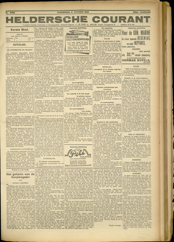 Heldersche Courant 1925-10-08