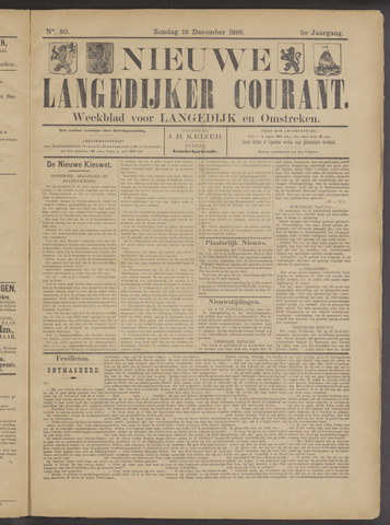Nieuwe Langedijker Courant 1896-12-13