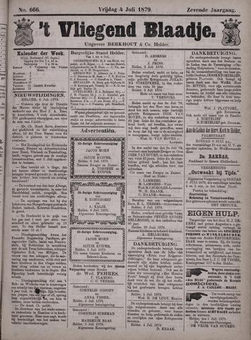 Vliegend blaadje : nieuws- en advertentiebode voor Den Helder 1879-07-04