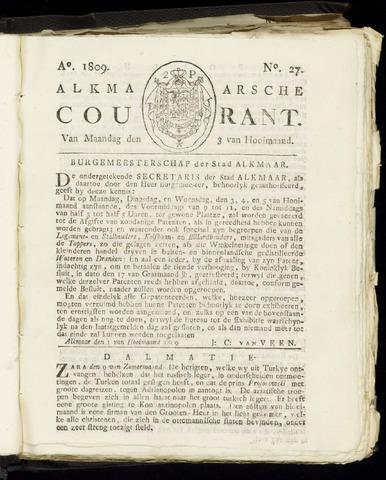 Alkmaarsche Courant 1809-07-03