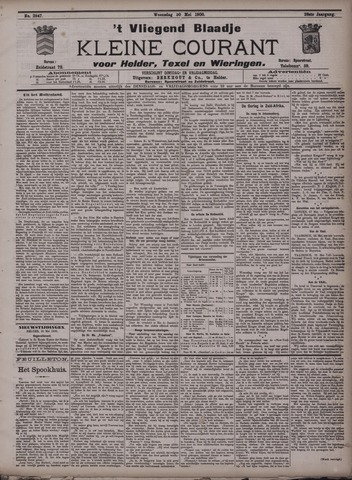 Vliegend blaadje : nieuws- en advertentiebode voor Den Helder 1900-05-30