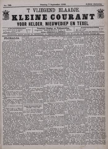 Vliegend blaadje : nieuws- en advertentiebode voor Den Helder 1880-09-07