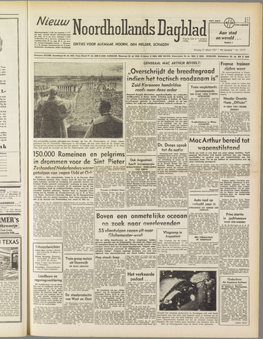 Nieuw Noordhollandsch Dagblad : voor Alkmaar en omgeving 1951-03-27