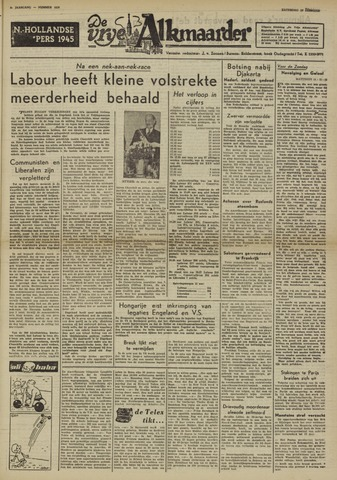De Vrije Alkmaarder 1950-02-25